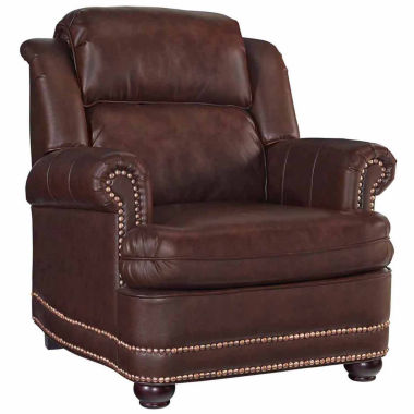 jcpenney.com | Beau Chair Faux Leather Roll-Arm Chair