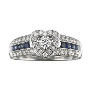 jcpenney.com | I Said Yes™ 3/8 CT. T.W. Certified Diamond & Sapphire Ring