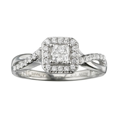 jcpenney.com | I Said Yes™ 3/8 CT. T.W. Certified Diamond Quad Ring