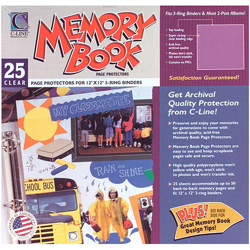 Memory Book Top-Load Clear Page Protectors