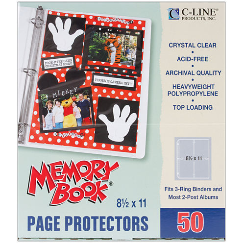 3-Ring Memory Book Top-Loading Page Protectors & Post Bound