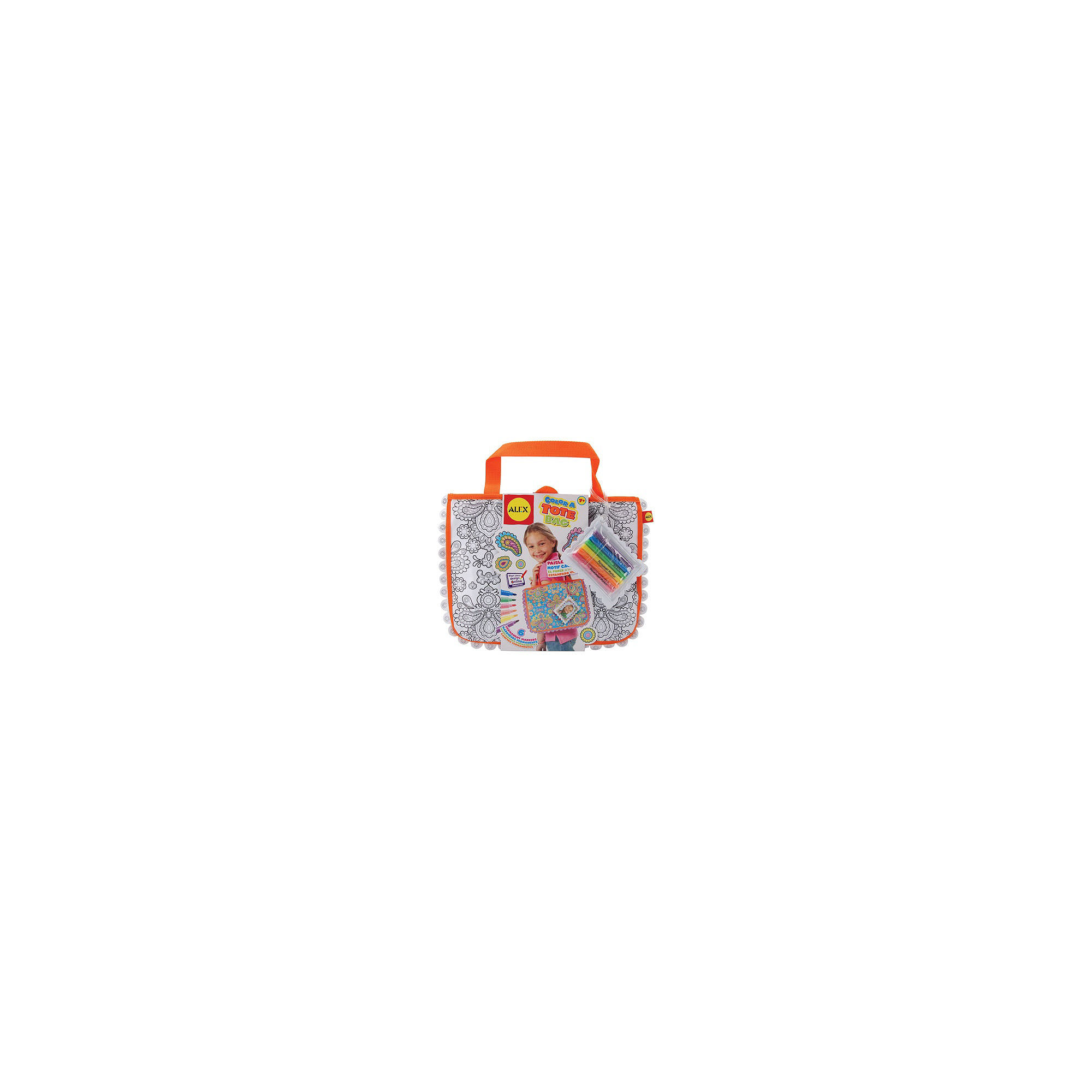 ALEX TOYS Color A Tote Bag Kit-Paisley Flower
