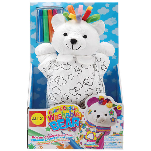 ALEX TOYS® Color & Cuddle Washable Bear Kit