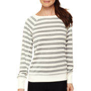 Xersion™ Striped Open Mesh Sweatshirt