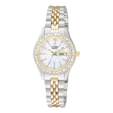 jcpenney.com |  Citizen® Womens Two-Tone Stainless Steel Bracelet Watch EQ0534-50D