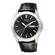 Citizen® Mens Silver-Tone Watch with Day/Date Display BF0580-06E