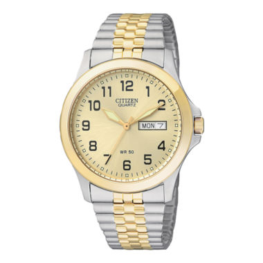jcpenney.com | Citizen® Mens Two-Tone Stainless Steel Expansion Strap Watch  BF0574-92P
