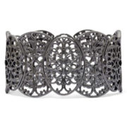 Dark Gray Filigree Stretch Bracelet