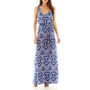 Bisou Bisou® Tribal Print Maxi Dress