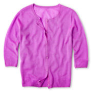 Total Girl® Solid Cardigan - Girls 6-16 and Plus