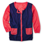 Total Girl® Colorblock Cardigan - Girls 6-16 and Plus