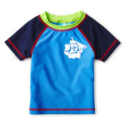 Baby Buns Sailboat Rash Guard - Boys 12m-6y