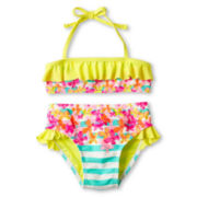 Breaking Waves 2-pc. Striped Swimsuit - Girls 12m-6y