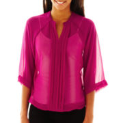 a.n.a® Pleated Dolman-Sleeve Top