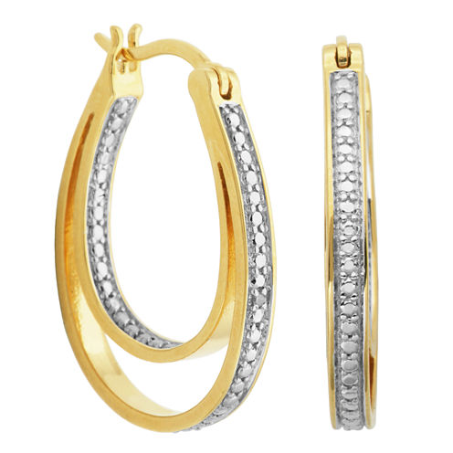 Sparkle Allure White Hoop Earrings
