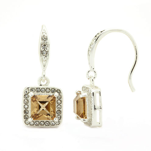 Sparkle Allure Brown Crystal Stud Earrings
