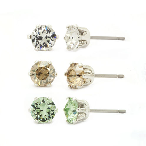 Sparkle Allure Crystal Stud Earrings