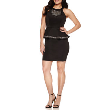 jcpenney.com | Bisou Bisou Sleeveless Embellished Peplum Dress