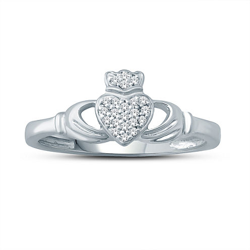 Womens Diamond Accent White Diamond Accent 10K Gold Cocktail Ring