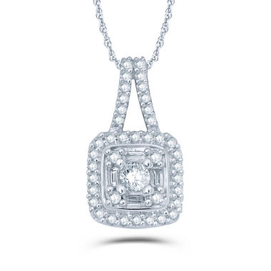 jcpenney.com | 1/4 CT. T.W. White Diamond 10K Gold Pendant Necklace