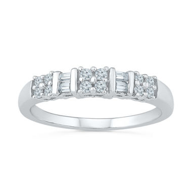 jcpenney.com | Womens 1/4 CT. T.W. White Diamond Sterling Silver Band