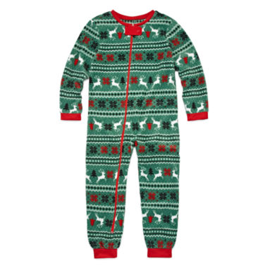 jcpenney.com | North Pole Trading Co Family Sleep Girls One Piece Pajama-Big Kid