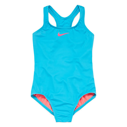 Nike Solid One Piece Swimsuit Big Kid Girls