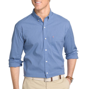 jcpenney.com | IZOD Advantage Stretch Long Sleeve Gingham Checked Button-Front Shirt