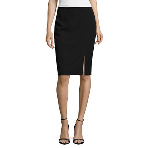 Worthington Off-Center Slit Pencil Skirt