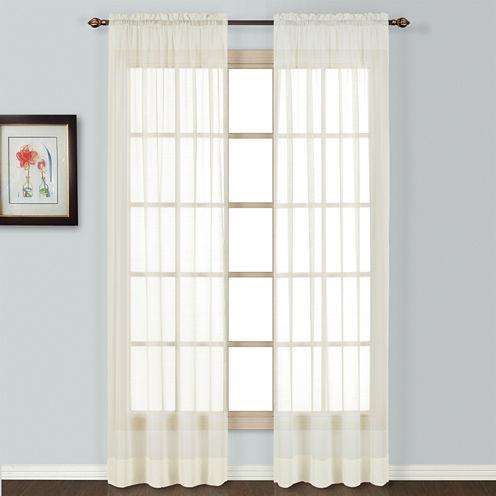 United Curtain Co. Batiste Rod-Pocket Curtain Panel