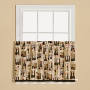 jcpenney.com | Saturday Knight Vino Rod-Pocket Window Tiers