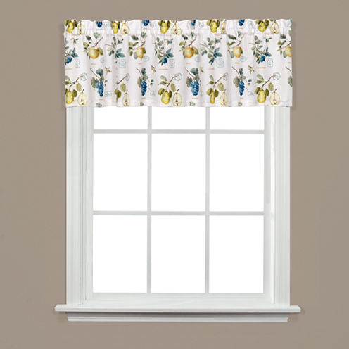 Saturday Knight Botanical Fruit Rod-Pocket Tailored Valance