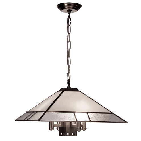 Dale Tiffany™ White Glue Chip Hanging Fixture
