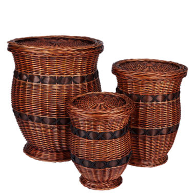 jcpenney.com | Household Essentials® 3-pc. Wicker Urn Table Set