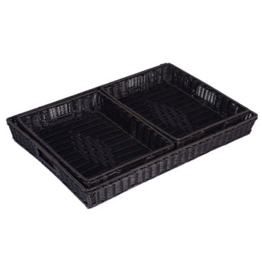 jcpenney.com | Household Essentials® 3-pc. Kingston Resin Wicker Tray Set