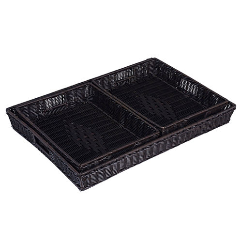 Household Essentials® 3-pc. Kingston Resin Wicker Tray Set