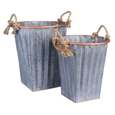 jcpenney.com | Household Essentials Galvanized Metal 2-pc. Storage Bin