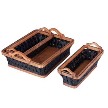 jcpenney.com | Household Essentials® Wicker Basket Tray Set