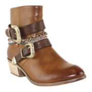 Olivia Miller Chain Ankle Boots