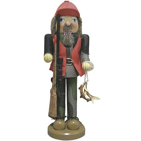 "Santa's Workshop 15"" Deer Hunter Nutcracker"