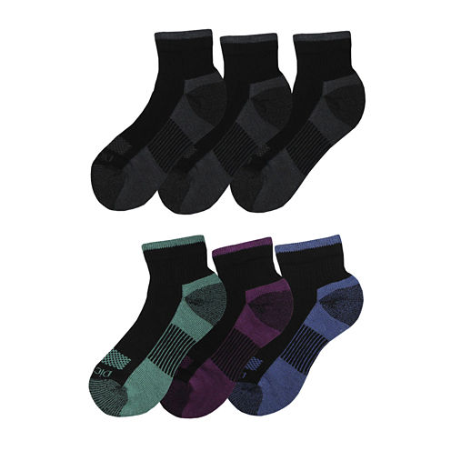 Dickies® Womens 6-pk. Dri-Tech Comfort Quarter Socks
