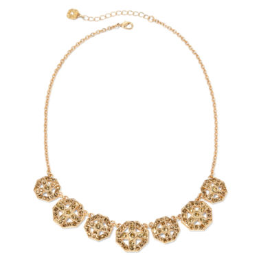jcpenney.com | Monet® Gold Brown Collar Necklace 1