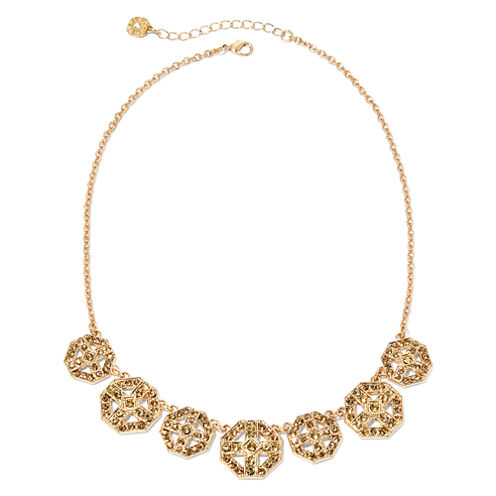 Monet® Gold Brown Collar Necklace 1