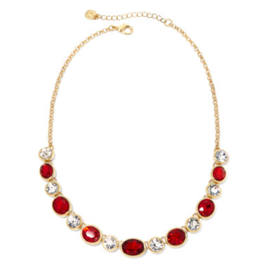jcpenney.com | Monet® Red Crystal Gold Crystal Necklace