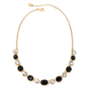 jcpenney.com | Monet® Black Crystal Gold-Tone Statement Necklace