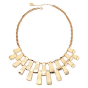 Liz Claiborne® Gold-Tone Bar Collar Necklace