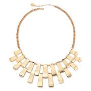 Liz Claiborne® Gold-Tone Bar Collar Necklace