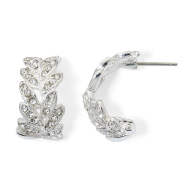 jcpenney.com | Monet® Crystal Leaf Earrings