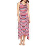 By Artisan Sleeveless Striped Maxi Dress