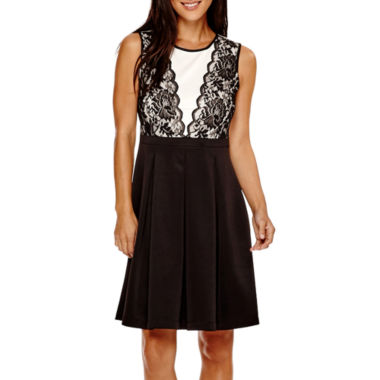 jcpenney.com | R&K Originals® Sleeveless Lace Fit-and-Flare Dress